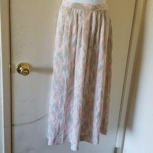 Eva Laurel New York pastel maxi skirt size 12